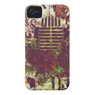 Vintage Music Microphone iPhone 4 Case