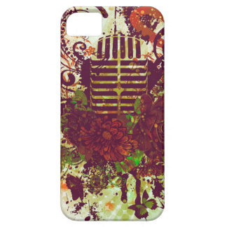 Vintage Music Microphone iPhone 5 Cases