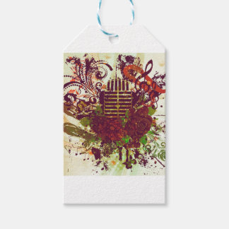 Vintage Music Microphone Pack Of Gift Tags