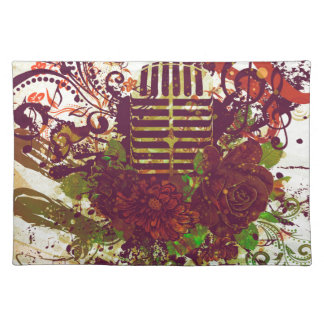 Vintage Music Microphone Placemat