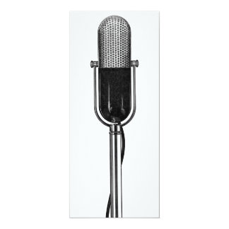 Vintage Music, Old Fashioned Microphone Invitation