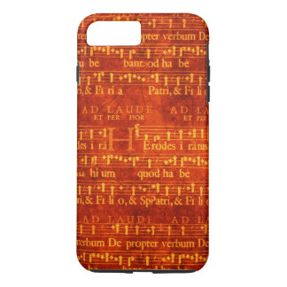 Vintage Music on Burnt Red iPhone 7 Plus Case