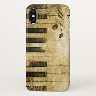vintage music piano abstract art iPhone x case