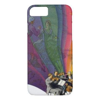 Vintage Music Rainbow, Victorian Couple Dancing iPhone 7 Case