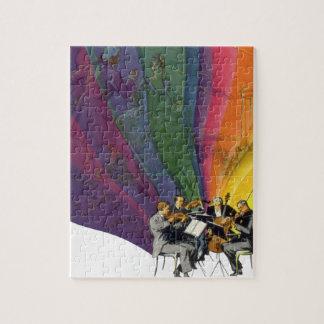 Vintage Music Rainbow, Victorian Couple Dancing Puzzles