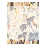 Vintage Music, Rhapsody in Blue Art Deco Jazz Custom Letterhead