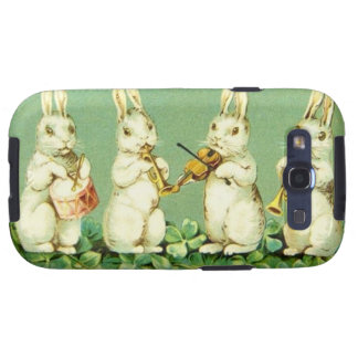 Vintage Musical Easter Bunnies Samsung Galaxy S3 Case