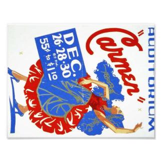 "Vintage Musical Theatre ""Carmen"" WPA Poster"