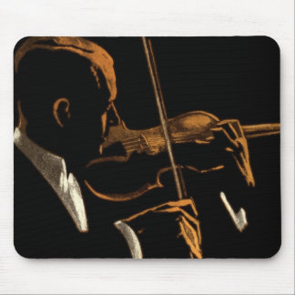 Vintage Musician, Violinist Playing Violin Music Mouse Pad