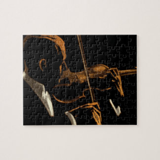 Vintage Musician, Violinist Playing Violin Music Puzzles