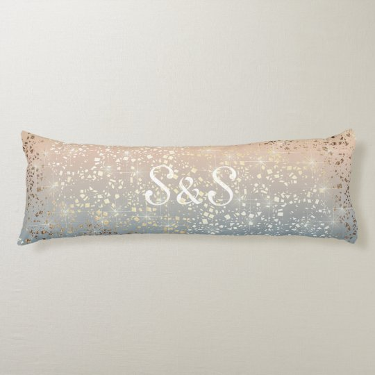 Vintage Muted 1920 Glam Gold Star Foil Sparkle Body Pillow