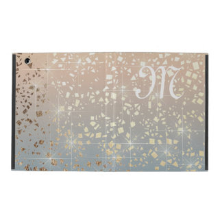 Vintage Muted 1920 Glam Gold Star Foil Sparkle Case For iPad