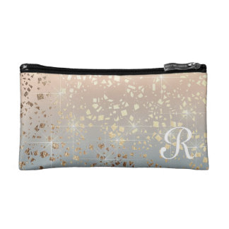 Vintage Muted 1920 Glam Gold Star Foil Sparkle Cosmetic Bags