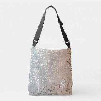 Vintage Muted 1920 Glam Gold Star Foil Sparkle Crossbody Bag
