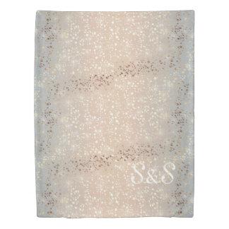 Vintage Muted 1920 Glam Gold Star Foil Sparkle Duvet Cover