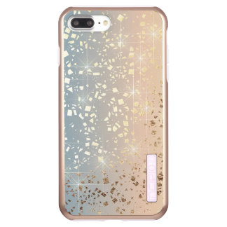 Vintage Muted 1920 Glam Gold Star Foil Sparkle Incipio DualPro Shine iPhone 7 Plus Case
