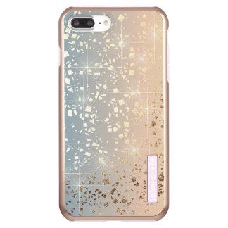 Vintage Muted 1920 Glam Gold Star Foil Sparkle Incipio DualPro Shine iPhone 8 Plus/7 Plus Case