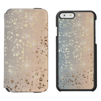 Vintage Muted 1920 Glam Gold Star Foil Sparkle Incipio Watson™ iPhone 6 Wallet Case