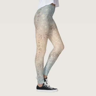 Vintage Muted 1920 Glam Gold Star Foil Sparkle Leggings