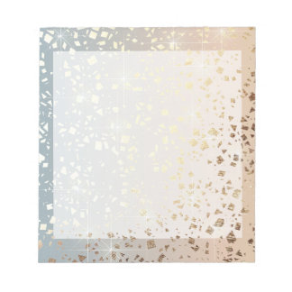 Vintage Muted 1920 Glam Gold Star Foil Sparkle Notepad