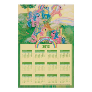 Vintage My Little Pony 2013 Calendar Poster