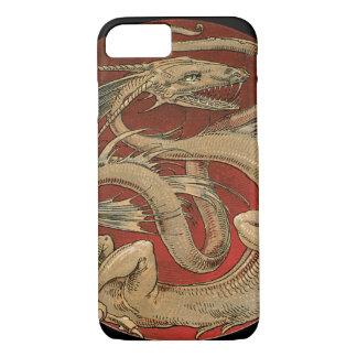 Vintage Mythology, Antique Golden Asian Dragon iPhone 7 Case