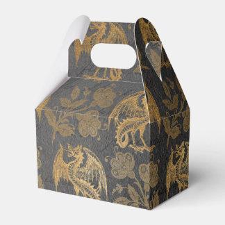 Vintage Mythology Fantasy Dragon Wallpaper Favor Box