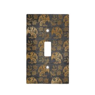 Vintage Mythology Fantasy Dragon Wallpaper Light Switch Cover