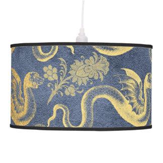 Vintage Mythology Fantasy Dragon Wallpaper Pendant Lamp
