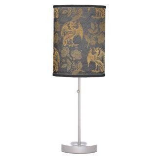Vintage Mythology Fantasy Dragon Wallpaper Table Lamp