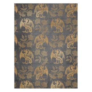 Vintage Mythology Fantasy Dragon Wallpaper Tablecloth