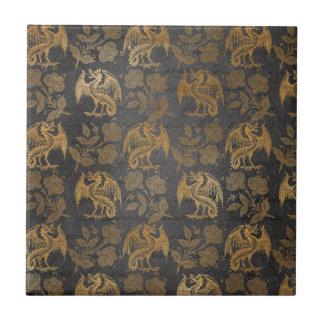 Vintage Mythology Fantasy Dragon Wallpaper Tile