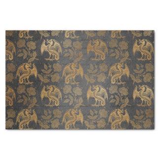 Vintage Mythology Fantasy Dragon Wallpaper Tissue Paper