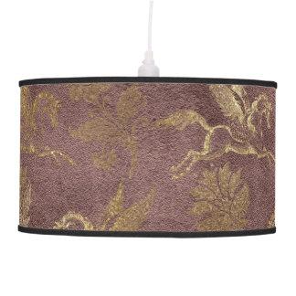 Vintage Mythology Fantasy Pegasus Wallpaper Ceiling Lamp