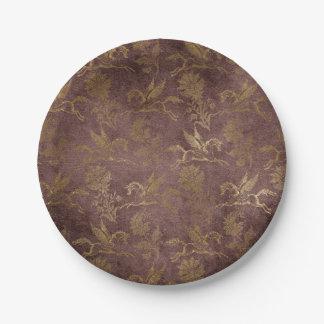 Vintage Mythology Fantasy Pegasus Wallpaper Paper Plate