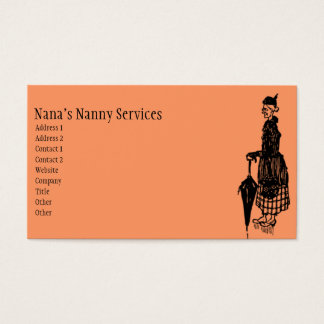 Vintage Nanny Business Card