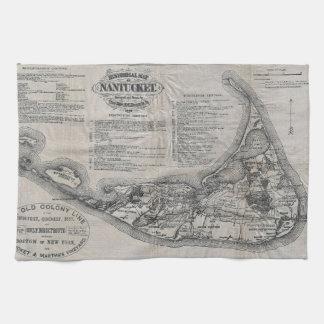 Vintage Nantucket Map Hand Towel