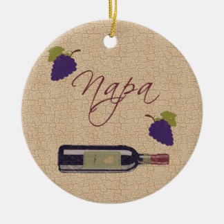 Vintage Napa Wine Ornament