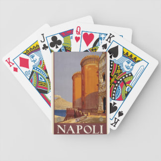 Vintage Napoli Travel Bicycle Playing Cards