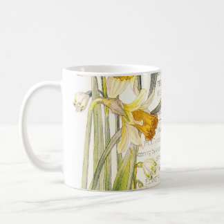Vintage Narcissus Wildflower Flowers Mug