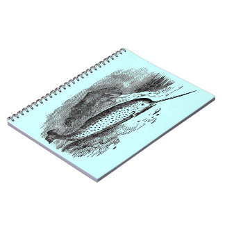 Vintage Narwhal Notebooks