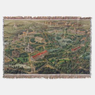 Vintage Nashville Centennial Park Map (1897) Throw Blanket