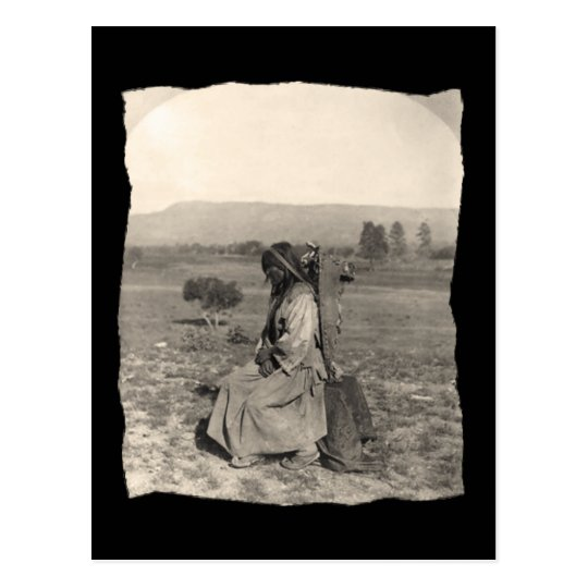 Vintage Native American Apache Postcard