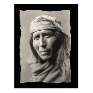 Vintage Native American Apache Tsahizn Tseh Postcard