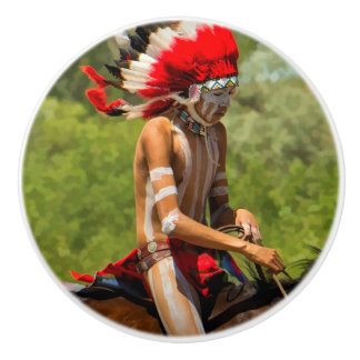 Vintage Native American Drawer Knob