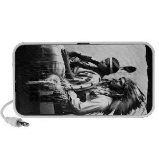 Vintage Native American Love couple Bannock Tribe Notebook Speaker