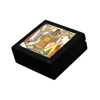 Vintage Native American Woman Village Forest Gift Boxes