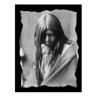 Vintage Native American Zosh Clishn Apache Postcard