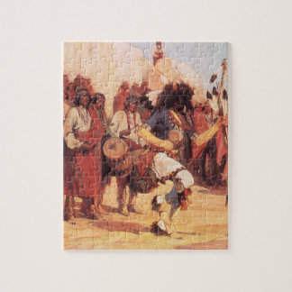 Vintage Native Americans, Buffalo Dance by Cassidy Jigsaw Puzzle