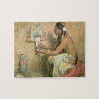 Vintage Native Americans, Hopi Katchina by Couse Jigsaw Puzzle